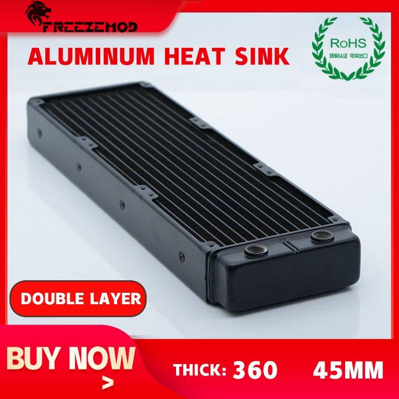 FREEZEMOD, radiador de aluminio para refrigeración por agua, disipador de calor de doble capa, Certificación ROHS, radiador de SR-L360SL de 45mm de espesor
