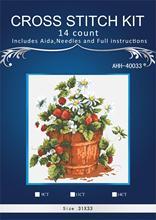 Oneroom-kit de broderie   Bricolage, point de croix, point de croix, kits de broderie, ensembles pour kits de broderie, 11CT & 14CT, fleur, fraise