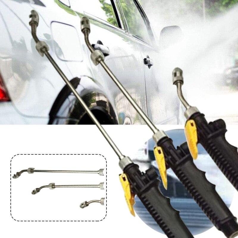 Pistola de agua para coche, lavadora de alta presión, boquilla de pulverización, varita de Metal para jardín, pulverizador ajustable, lavable, multifunción para lavadora