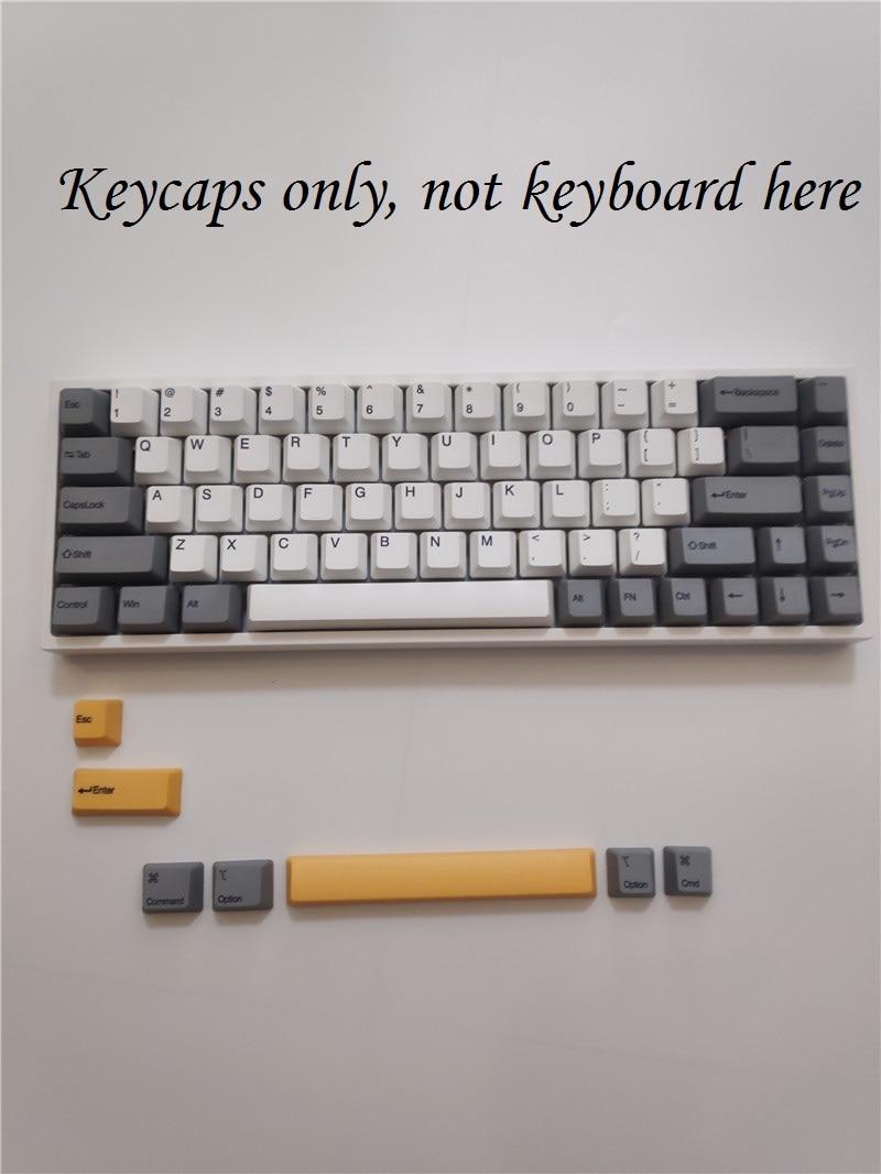 Keydous 68 Teclado mecánico teclas 68 llaves dyesub PBT keycap tinte subbed mac keycap de perfil
