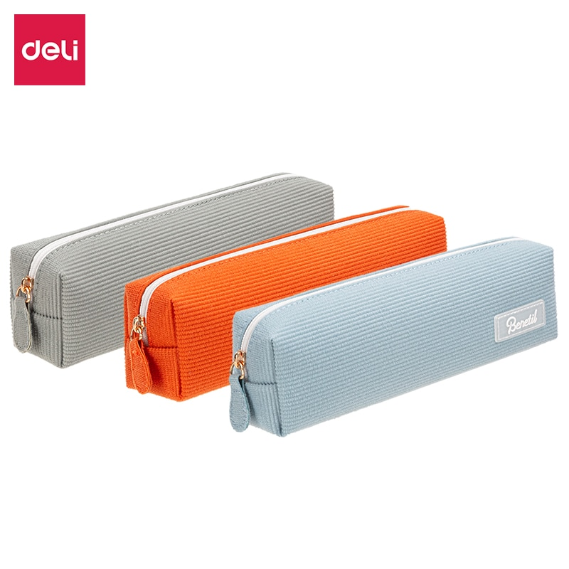 Deli  Cute Kawaii  Pencil Case primary school fresh student pencil bag / multifunctional stationery box / pencil storage box