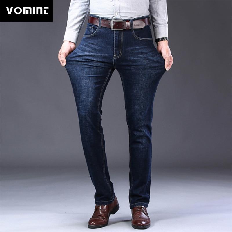 VOMINT, мужские джинсы, новинка, Бизнес Стиль, повседневные джинсы, хлопок, стрейч, Мужские штаны, мужские длинные прямые брюки, костюм высокого ...