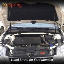 Para 2006-2018 ford mondeo mk4 mk5 coche cubierta para capó puntal bares levantar apoyo primavera soporte varilla hidráulica accesorios de estilo de coche