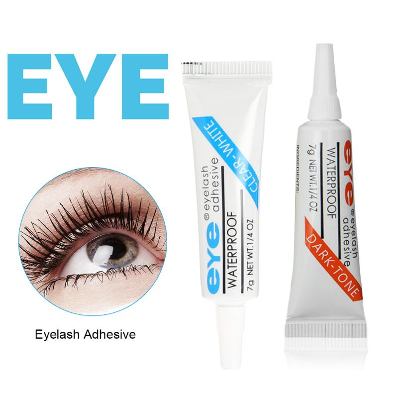 2 Colors Dark/Transparent False Eyelash Glue Strong Waterproof Extension Eyelash Adhesive Quick-Dry