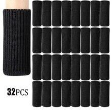 32 paquets chaise jambe chaussettes tricoté meubles chaussettes jambe plancher protecteurs meubles Table pieds couvre pour se déplacer facilement