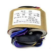R type power transformer 30W dual 15V + single 9V R cattle audio transformer copper wire 115V-230V