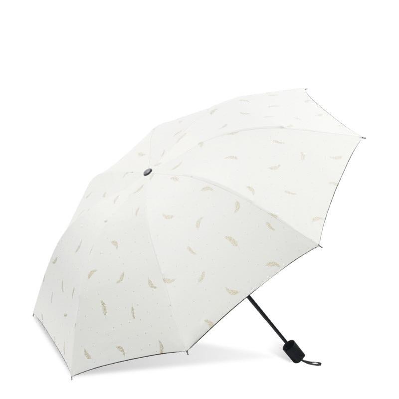 High Quality Rain & Sunny Umbrella Women Three-folding Umbrella Windproof Umbrella Female Waterproof parasol enlarge