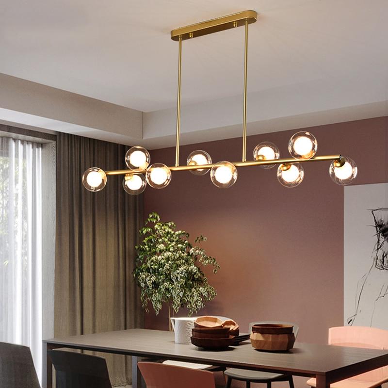 Nordic Modern Simple Bubble Ball Long Strip Chandeliers Minimalist Creative Hanging Lights Magic Bea