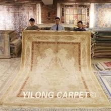 Yilong-grand tapis oriental 8.5 x 11.8   Grand tapis antique turc beige fait main (YL1585A)