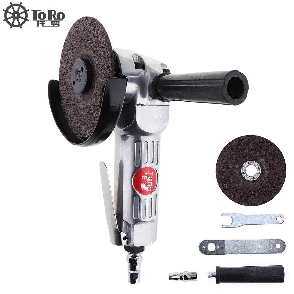 TORO-6040 4 Inch High Speed Pneumatische Air Grinder Winkel Grinder mit Disc Poliert Stück für Maschine Poliert Schneiden Werkzeuge