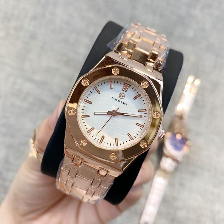 PABLO RAEZ стальные тяжелые женские роскошные часы с наконечником дизайн кварцевые модные современные наручные часы relogio feminino повседневные женские часы