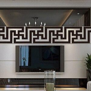 Акриловая Зеркальная Наклейка на уровне талии, 10 шт., самоклеящаяся лента для ТВ, фона, настенного зеркала, потолочного украшения