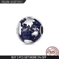 2021 new 100 925 sterling silver enamel world beads charms fit original pandora braceletbangle making diy women jewelry gift