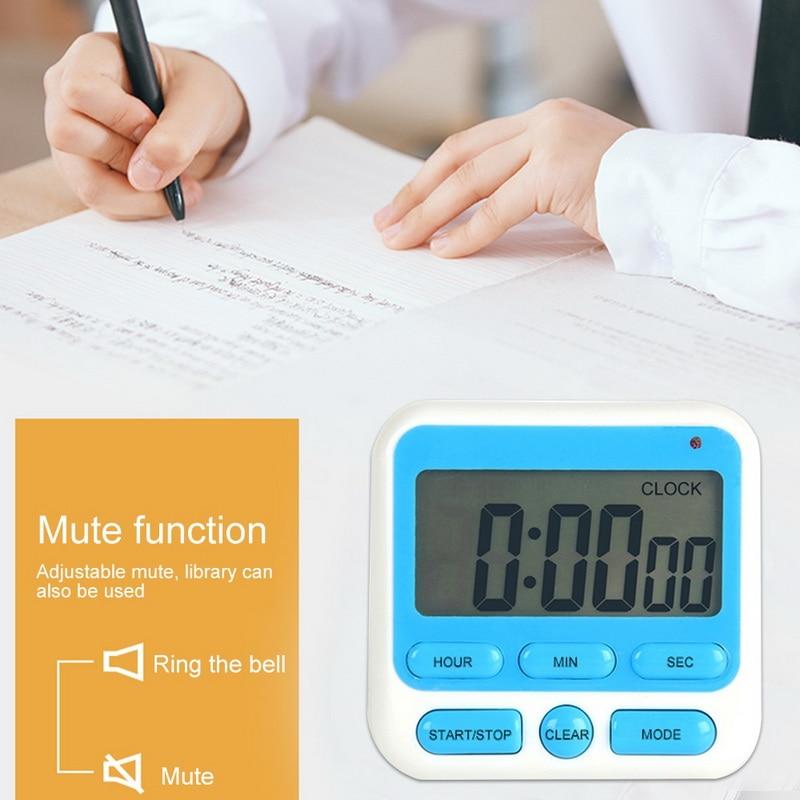 Cyfrowy zegar kuchenny odliczanie czasomierz kuchenny zegar z magnesem podstawa stołu i wiszący otwór