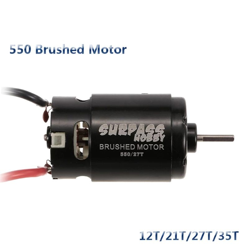 550 12T 21T 27T 35T Brushed Motor for 1/10 RC Car HSP HPI Wltoys Off-Road enlarge
