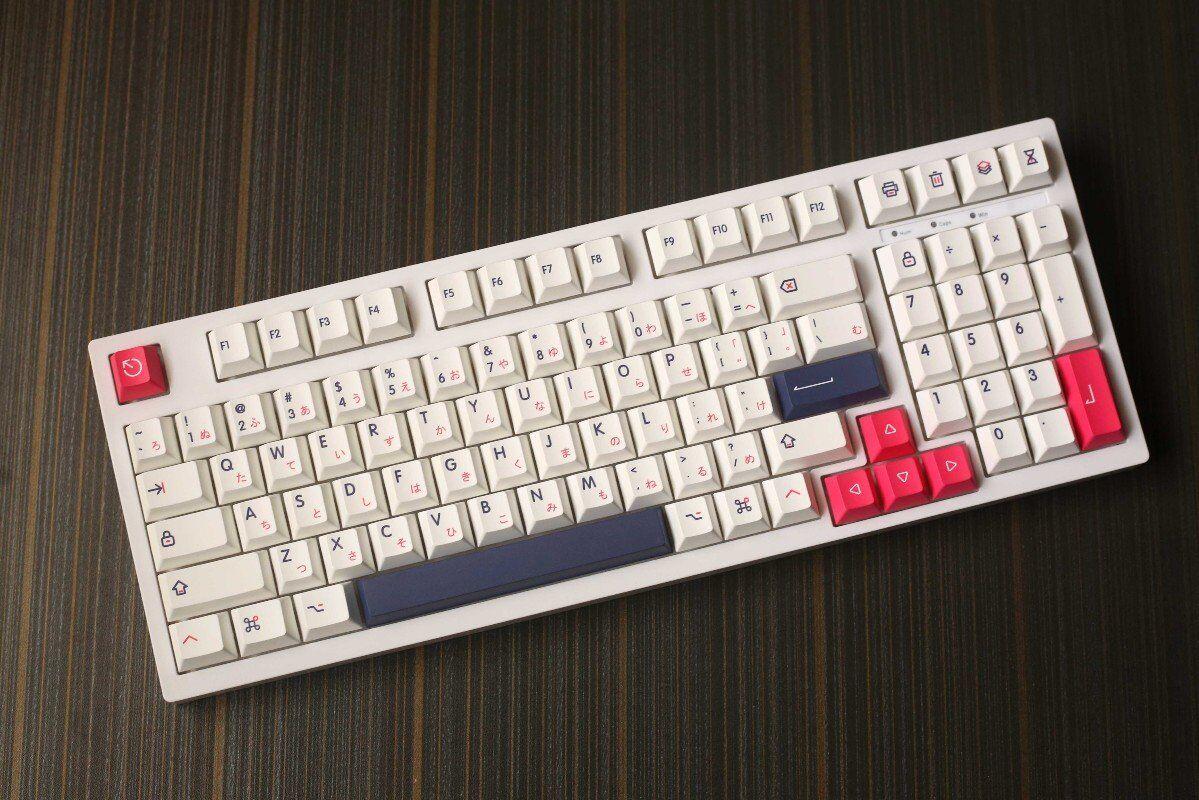 140 مفاتيح/مجموعة مفاتيح Kon مومو للوحة المفاتيح الميكانيكية MX التبديل PBT صبغ التسامي مفتاح قبعات الكرز الشخصي مع 1.75u 2u التحول