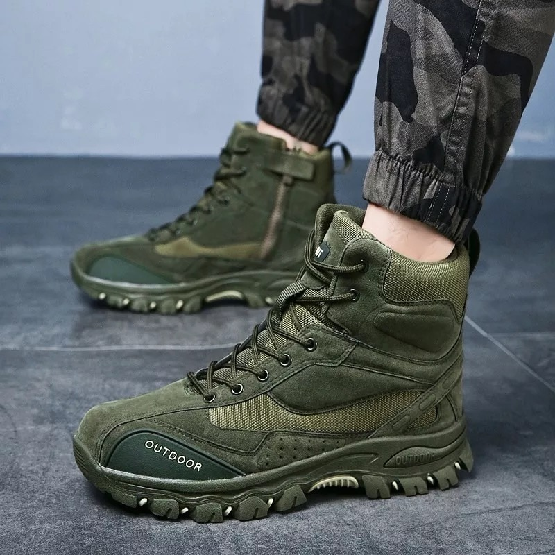 Winter 2021 Military Tactical Boots Men Outdoor Hiking Shoes Special Forces Desert  Combat And Ankle Bota Leather Snow Sneakers