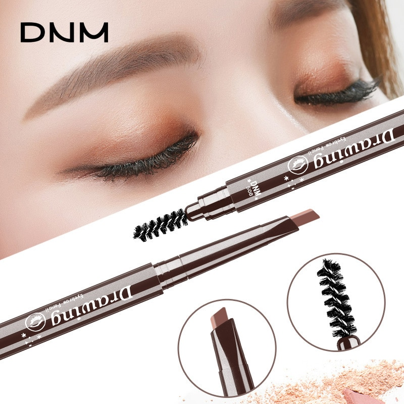 Gran oferta 1 Uds lápiz de cejas portátil doble cabeza cejas herramienta de maquillaje de larga duración impermeable cosméticos para cejas