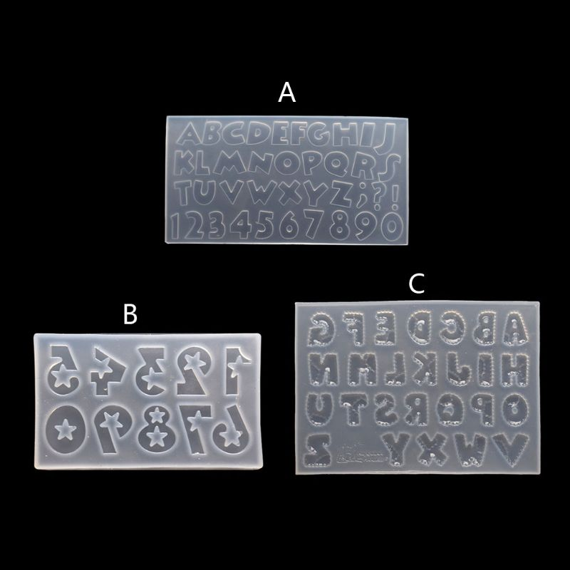 Silicone Epoxy Molds Handmade Number Letters Resin Casting Mold Alphabet Letter Pendant UV Resin Silicone Mold Jewelry Making demixing pendant resin mold silicone mold casting molds epoxy uv jewelry making moulds jewelry making jewelry tools