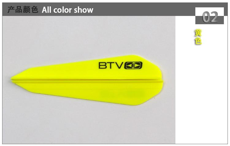 30x 3 btv palhetas de plástico para fibra de vidro carbono madeira parafusos setas acessórios arco tiro com arco frete grátis