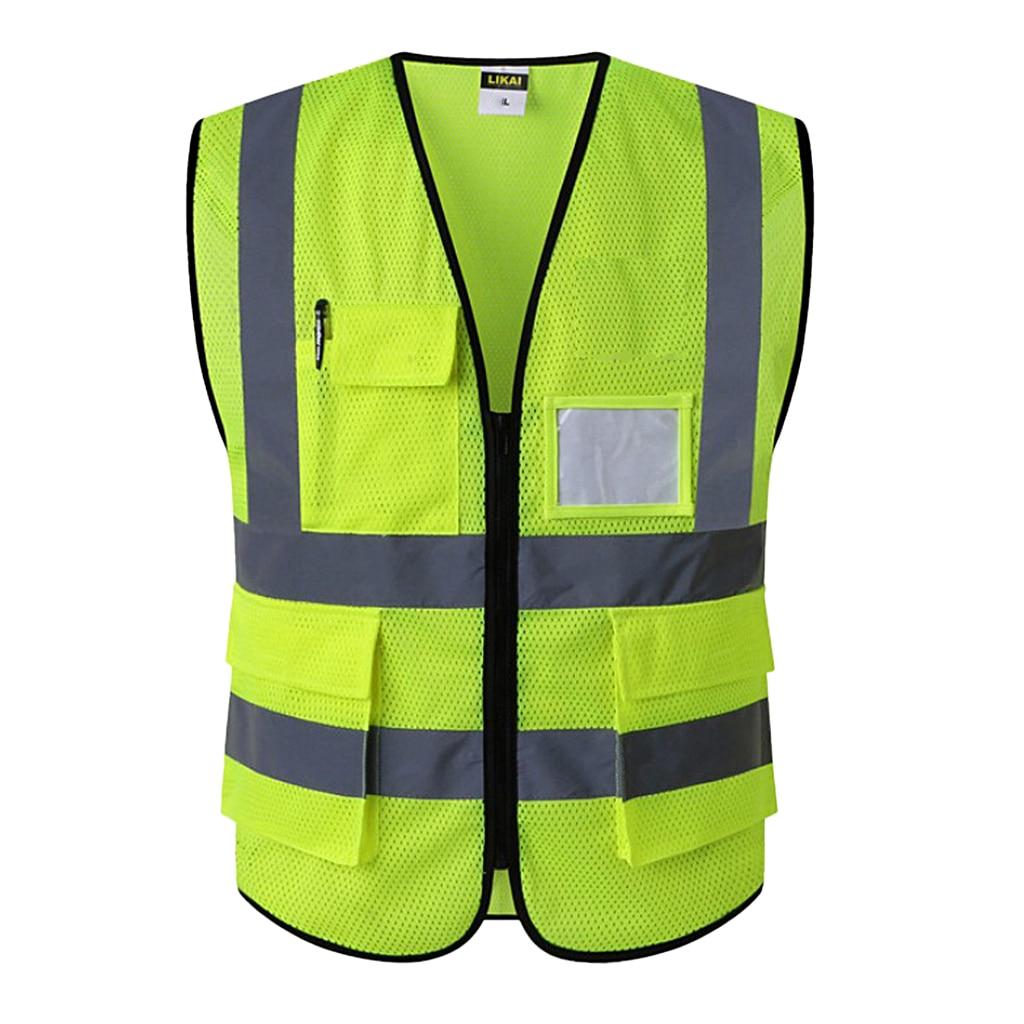 Светоотражающий жилет безопасности инженерная конструкция с карманами, достаточно маленький, чтобы поместиться в карман пальто или сумку