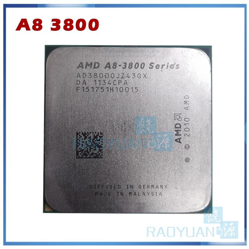 AMD serie A8 3800 A8-3800 2,4 GHz 65W CPU Quad-Core procesador AD3800OJZ43GX hembra FM1/905pin vender a6 3600 a8 3870 a8 3850