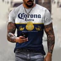2021 summer retro style casual t shirt street fashion men monogram printed t shirt short sleeved loose oversized t shirt
