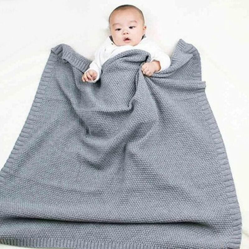 Ropa de cama suave para bebés, manta para dormir, hecha a mano, de punto, cochecito rojo, manta, manta para bebé, funda para cochecito al aire libre