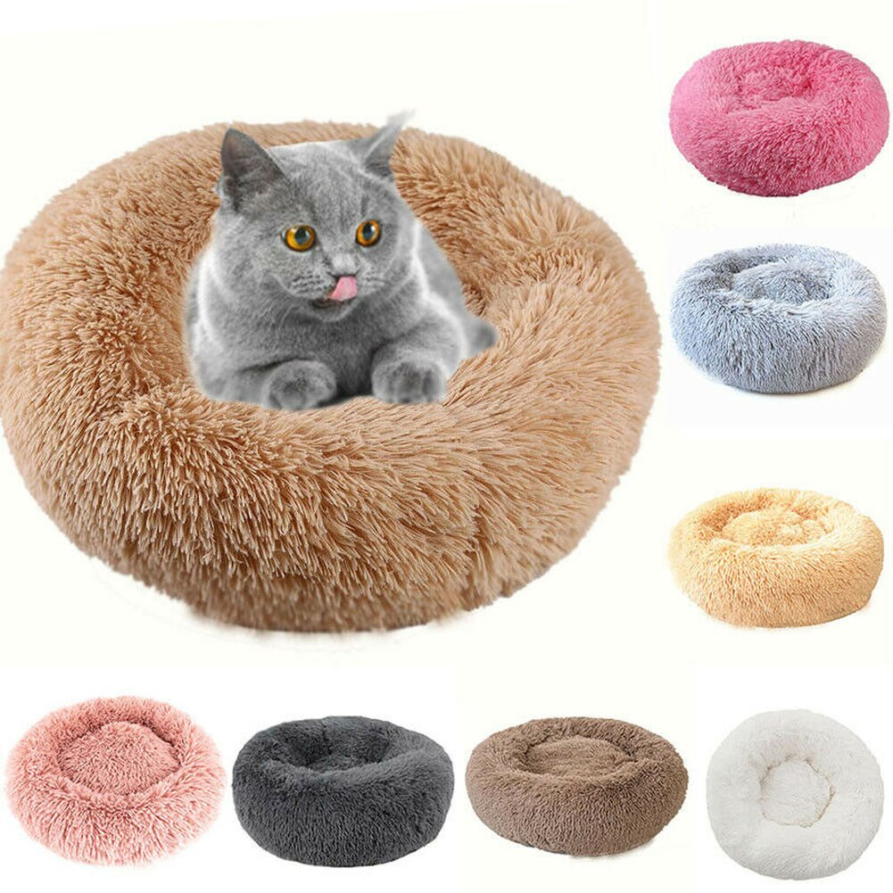 Cama de perro Súper suave, perrera larga de felpa para mascotas, perrera profunda para perros, gatos, esteras para casa, sofá para cachorro, Chihuahua, Pug, cesta para mascotas, camas, almohadillas