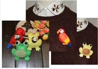 fabric brooch woodpecker shape toy padded brooch colorful lovely handmade fashionable new accessories 2021 1piece