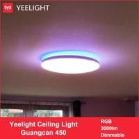 YEELIGHT 50W Smart LED Plafonniers Colore Lumiere Ambiante Homekit APP Controle AC 220V Pour Salon