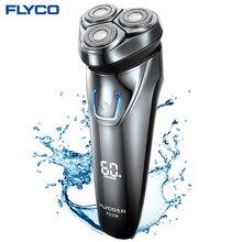 Flyco FS339 Rasieren Maschine Für Männer Rasiermesser Barbeador IPX7 Wasserdichte 1 Stunde Wiederaufladbare Waschbar Dreh Klinge Elektrische Rasierer