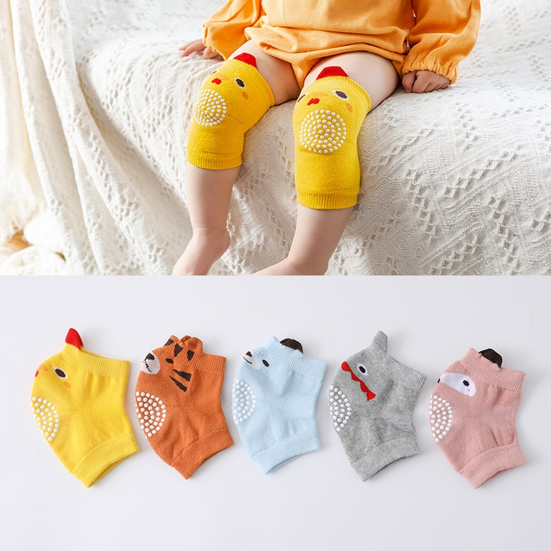 0-3 Years Baby Knee Pad Kids Safety Crawling Elbow Cushion Infant Toddlers Baby Leg Warmer Knee Supp