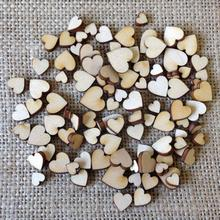 1x200pcs Fine Antique Wood Love Heart Used For Wedding Wooden Crafts Supplies Party Diy Birthday Dec