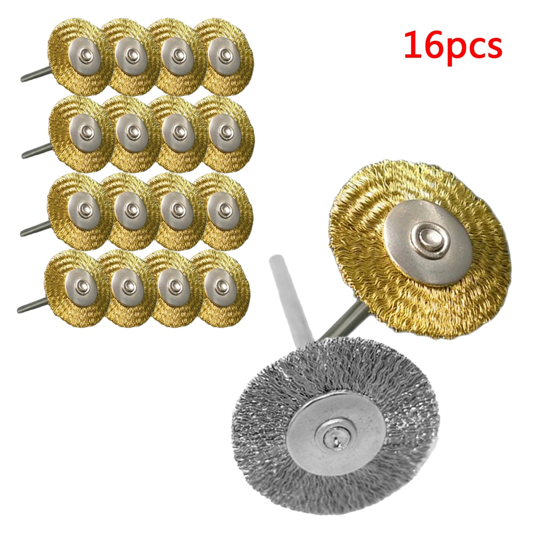 30pcs mini rotary stainless steel wire wheel wire brush small wire brushes set dremel accessories for mini drill rotary tools 25mm 16pcs Platinum Blades Steel Wire Wheel Brush Dremel Rotary Tool for Mini Drill Tools Polishing Dremel Accessories
