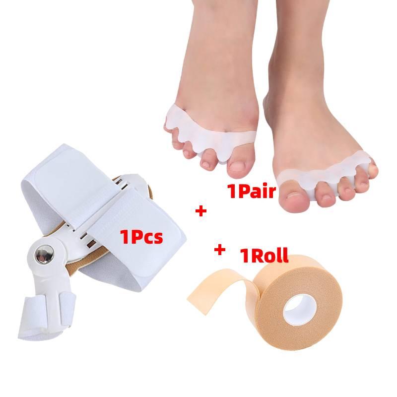 1 Set  Silicone Straightener Gel Foot Care Tools Toe Sparator Hallux Valgus Bunion Corrector Pedicur