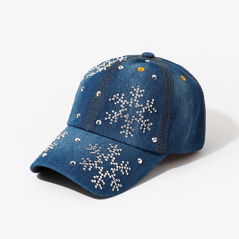 Новая высококачественная крутая джинсовая бейсболка Стразы в стиле хип-хоп регулируемая бейсболка шляпа бренда Gorra для женщин