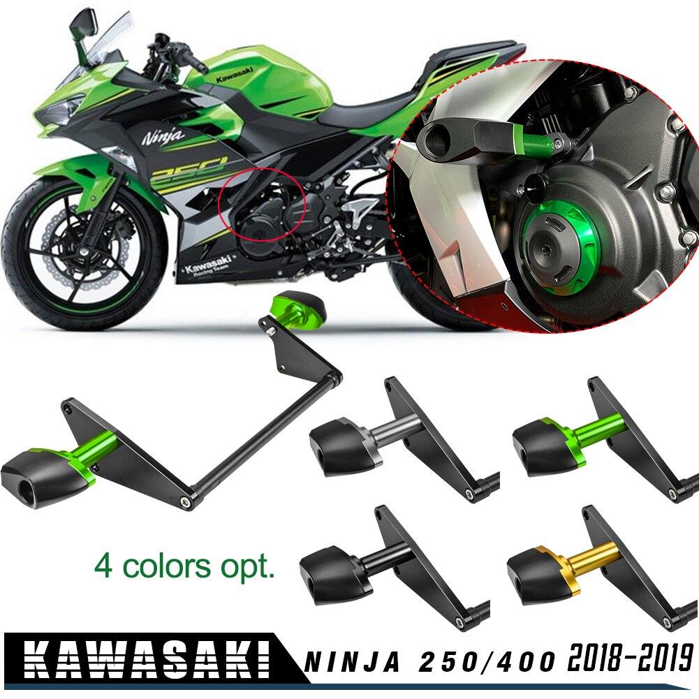 Motocicleta para Kawasaki Ninja 400 Ninja 250, marco de protección contra caídas, protector deslizante, almohadilla antichoque Ninja400 Ninja250 2018 2019