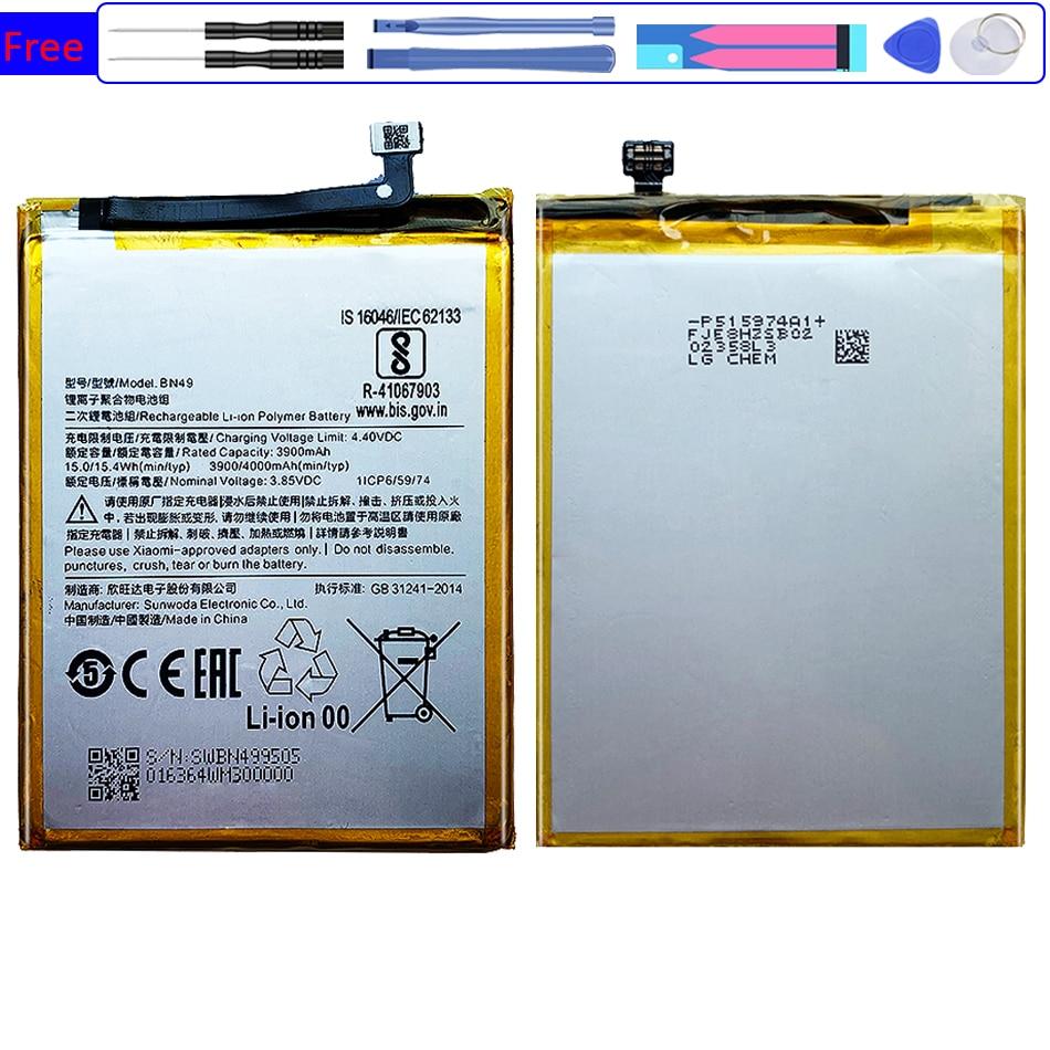 Batería Para Xiaomi rojo mi BN49 4000mAh para Xiao mi Redmi 7A...