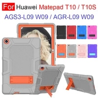 for huawei matepad t10 9 7inch t10s 10 1inch t10 s heavy duty rugged shockproof drop protection case cover with kickstand