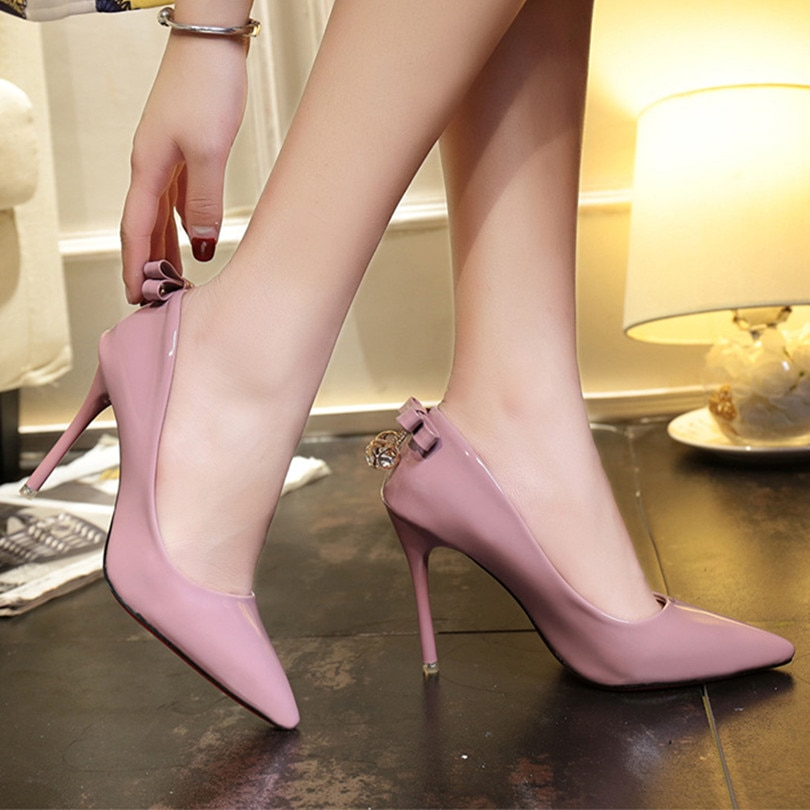 2021 Pointed Toe Women Heels Sweet Ladies Dress Shoes High Heels for Female Office Womans Wedding Pumps Party Womens Club Heels