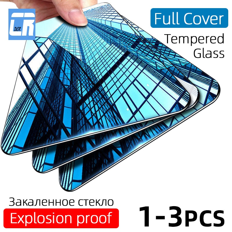 3Pcs Full Cover Tempered Glass for OPPO Reno 3 2 Z Ace 10 x zoom Screen Protector for Realme X Lite