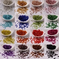 450pcs glass beads tube 2x4mm short czech glass spacer bugles seed beads embroidery jewelry making diy garments accessories 10g