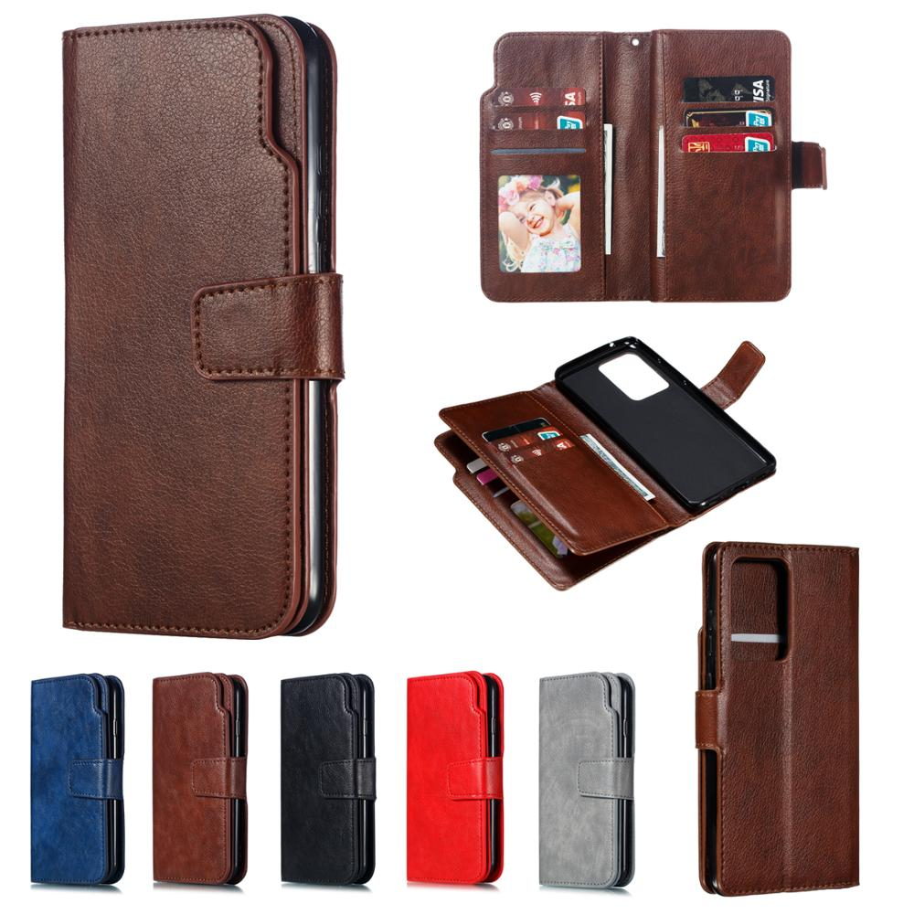 For Samsung Galaxy S20 S10 S8 S9 Plus S20 Ultra S7 Edge S10E Wallet Card Leather Case Flip Cover Magnet Business Phone Bag