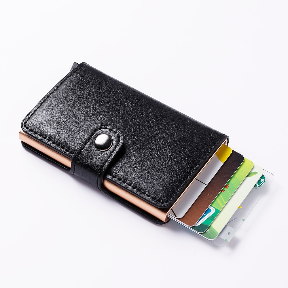 Men Credit Card Holder Colorful Men Wallet Mini RFID Blocking Aluminium Business ID Card Holder Male Cardholder Man Purse