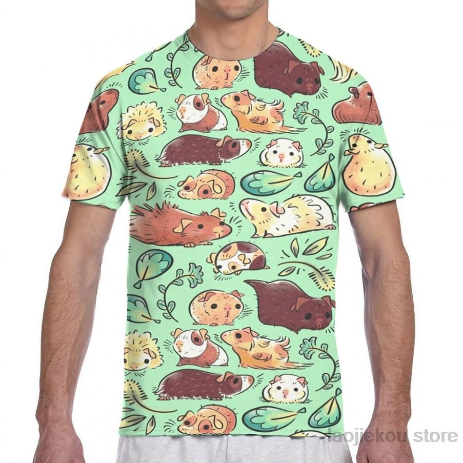 Guinea Pig Huddle men T-Shirt women all over print fashion girl t shirt boy tops tees summer Short Sleeve tshirts
