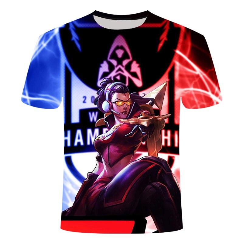 Camiseta con estampado 3D de la Liga de juego de leyendas, camiseta informal de yasuo zed leesin, camiseta de manga corta para verano, ropa de calle, talla XXS-6XL