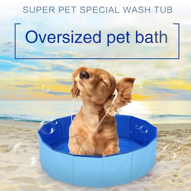 Foldable Dog Pool Dog Swimming Pool Pet Bath Swimming Tub Bathtub Pet Swimming Pool Collapsible Bathing Pool for Dogs Cats