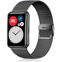 Ремешок «Миланская петля» для Huawei Watch FIT, аксессуары, браслет из нержавеющей стали с металлической скользящей пряжкой Для Huawei Watch fit 2020