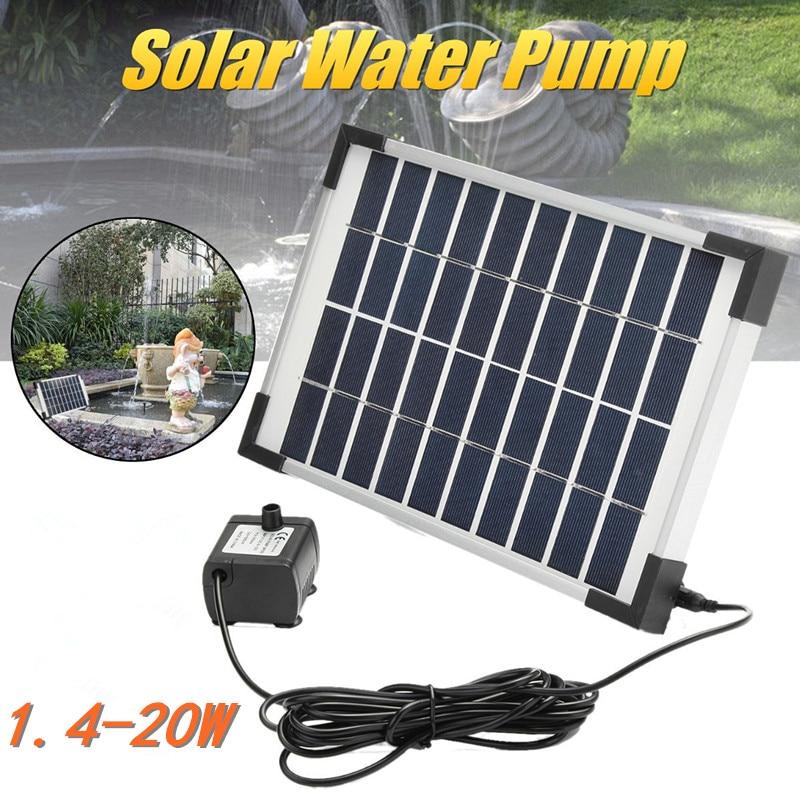 الطاقة الشمسية مضخة مياه لوحة الطاقة عدة بركة غاطسة نافورة نباتات للحديقة سقي السلطة نافورة بركة حديقة ديكور في الهواء الطلق